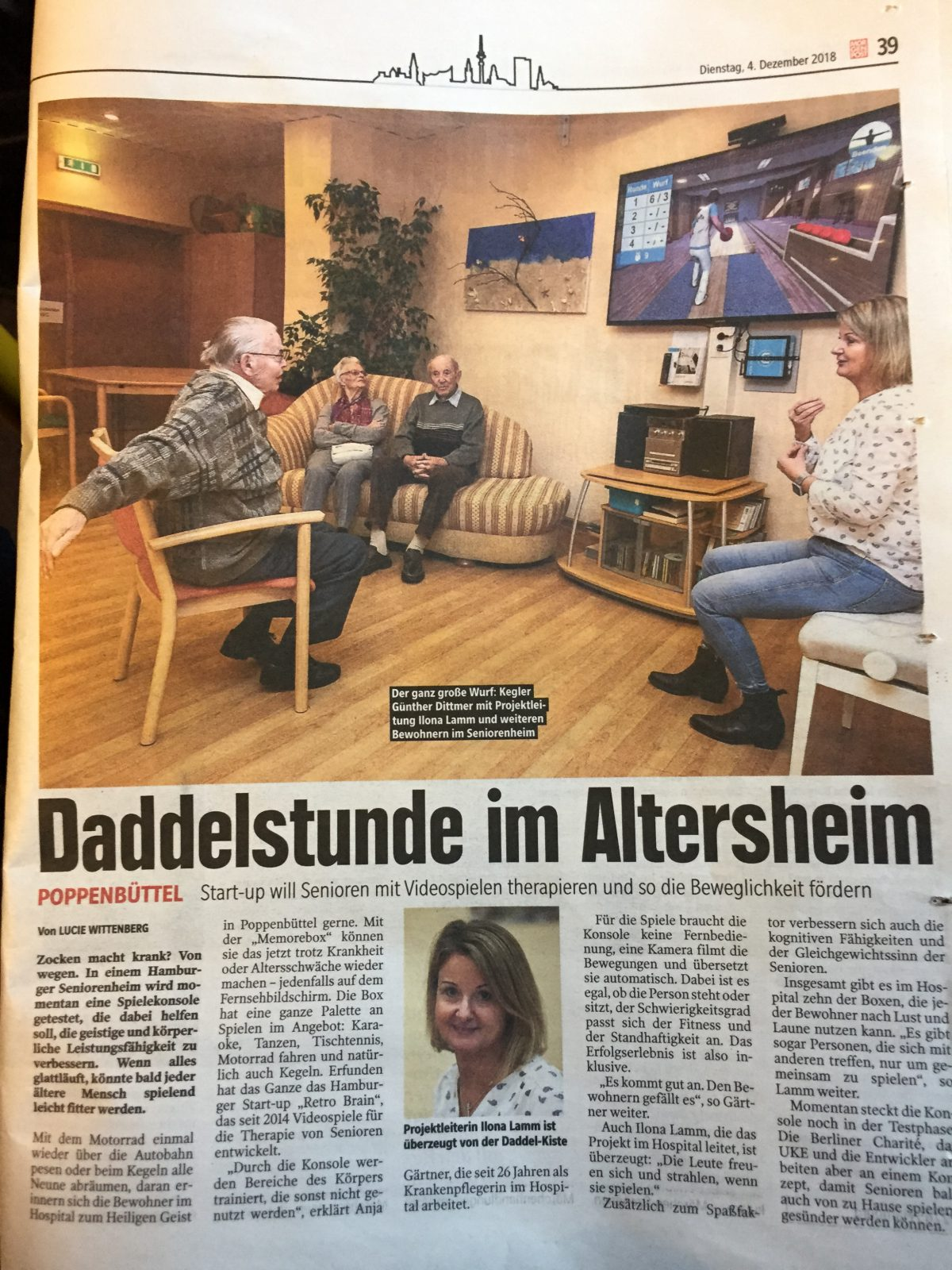 Hamburger Morgenpost // Daddelstunde Im Altersheim